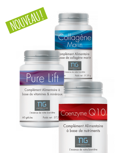 Pack anti-âge - collagène, coenzyme Q10, pure-lift