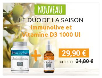 Découvrez le duo de saison, Immunolive + Vitamine D3 à 29,90 € au lieu de 34,80 € !